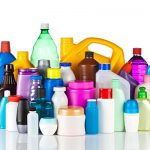 various plastic containers or cans by extrusion blow molding