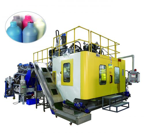 Multi-layer co-extrusion blow molding machine for pesticide bottle with barrier EVOH layer